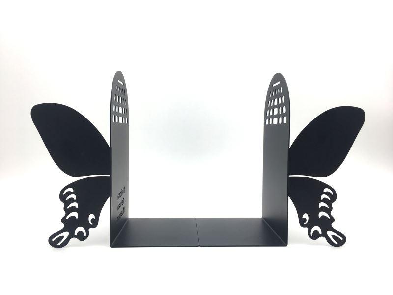 寬尾鳳蝶-金屬造型書擋(正面)
