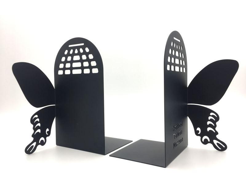 寬尾鳳蝶-金屬造型書擋(側面)