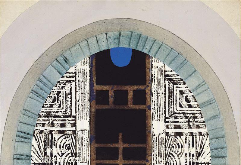廖修平〈鏡之門〉局部圖