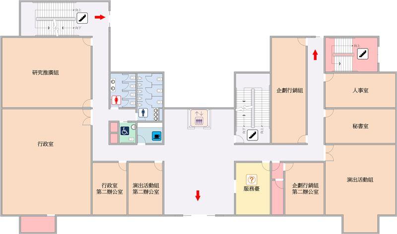 行政大樓一樓平面圖