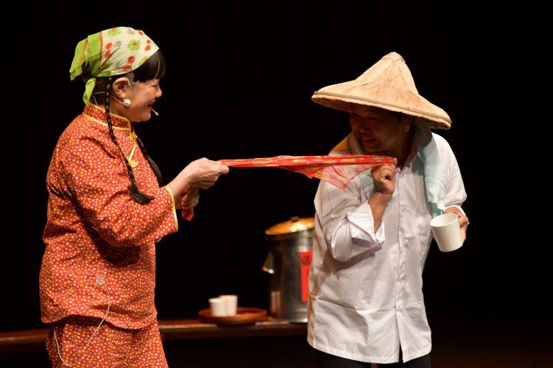 習藝中藝生-黎竹紅(右)演出劇目-駛牛車-平貴寶釧愛在滿州