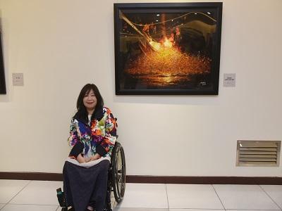 藝術家呂瓊慧。