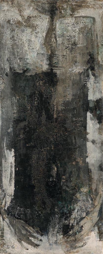 顧福生〈人〉1961 油彩、畫布 116.5×47.5 cm