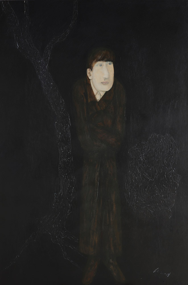 CHIU Ya-tsai〈Scholar〉1989 Oil on canvas 195×130 cm