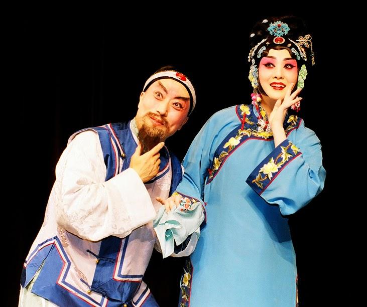 《巴山秀才》演出照片(2010)。(李寶春飾孟登科、王艷飾孟娘子)
