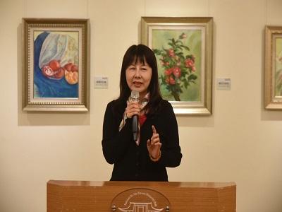 郭為美首次回顧展-文化大學推廣教育潘慧敏主任致詞