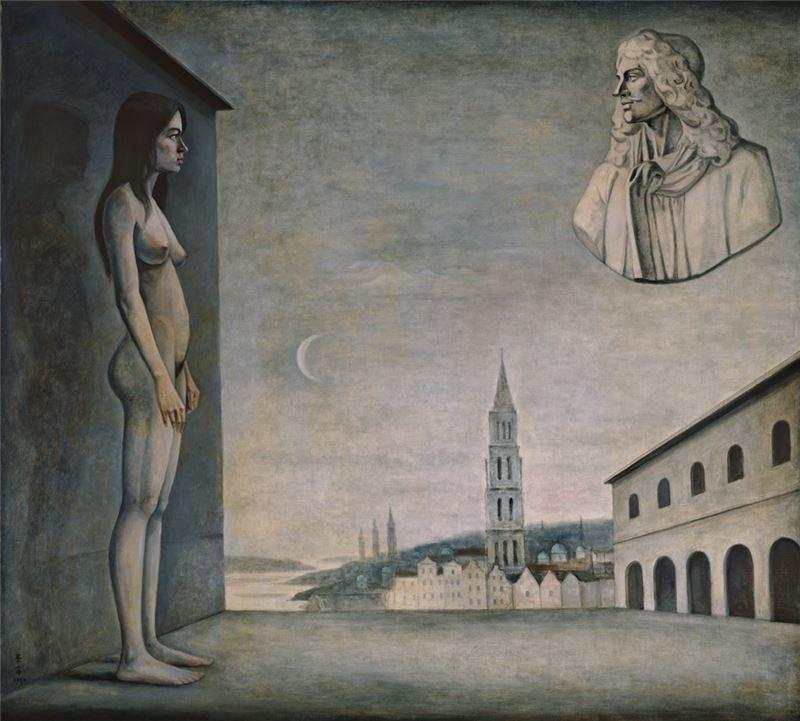 陳景容〈在她的夢境裡〉1984 油彩、畫布 173.5×193 cm