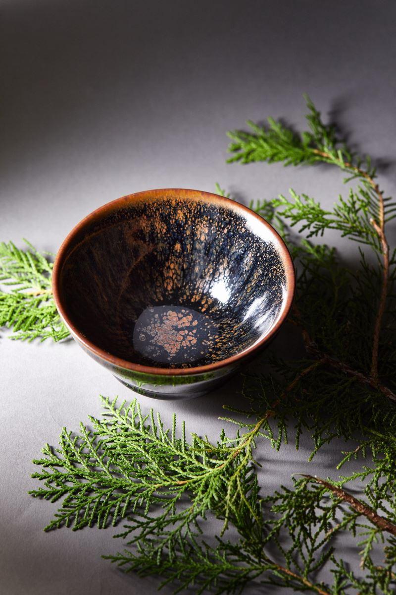 yii-藍曜羽斑天目茶碗