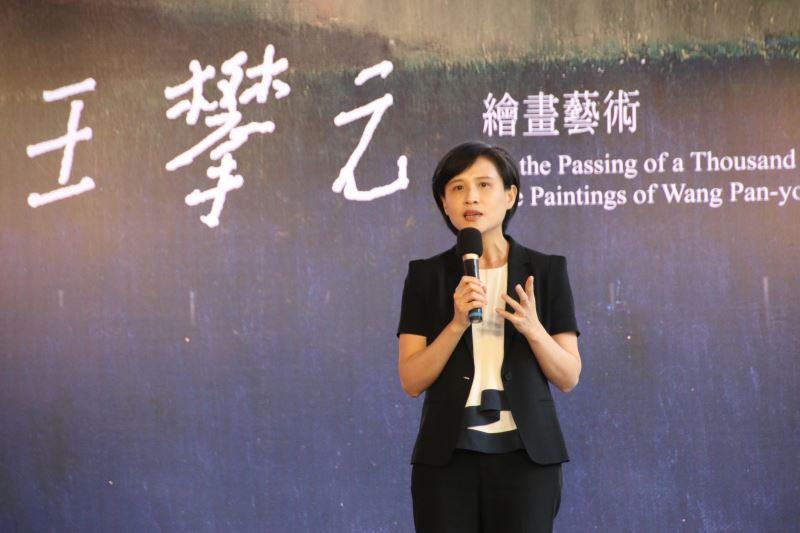 文化部長鄭麗君出席「過盡千帆——王攀元繪畫藝術」開幕典禮