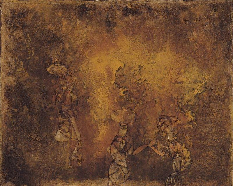 吳昊〈抽象〉1959 油彩、畫布 72.5×91 cm