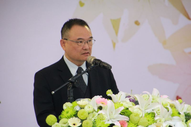 圖2__文化部政務次長蕭宗煌致詞,感念威權統治時期政治受難者犧牲奉獻,換得臺灣今日可貴的自由民主。
