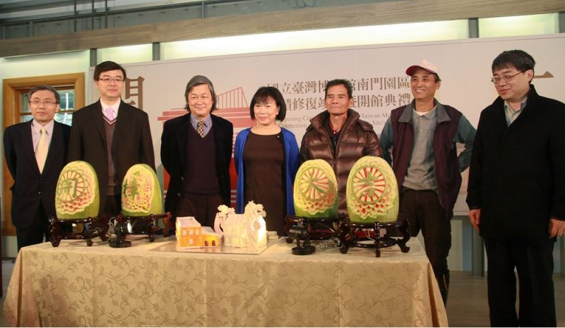 Watermelon carvings were presented at the inauguration ceremony to symbolize an auspicious new beginning for the century-old camphor factory.
