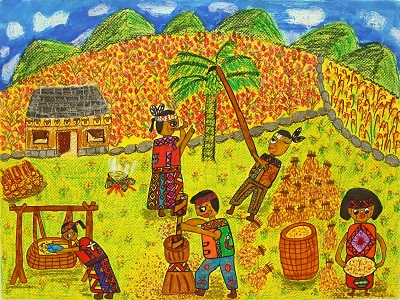 """Honorable mention of elementary school group, """"Daily Life of the Paiwan"""""""