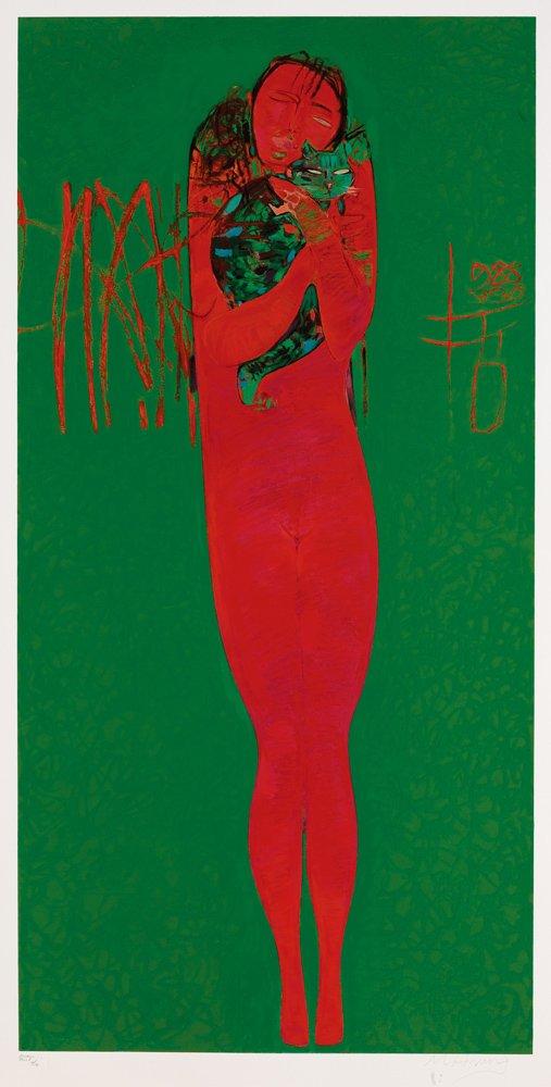 黃銘哲〈國王的夢〉版畫 152×300 cm