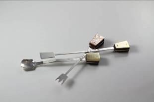 黃宗帝作品「杵音旋律-小茶匙」圖