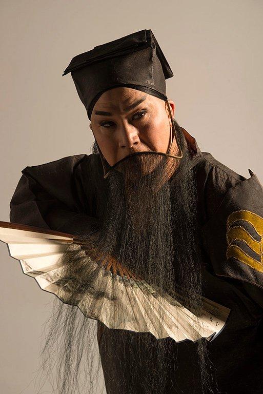 《水袖與胭脂》宣傳照片。(唐文華 飾 唐明皇)(2013)
