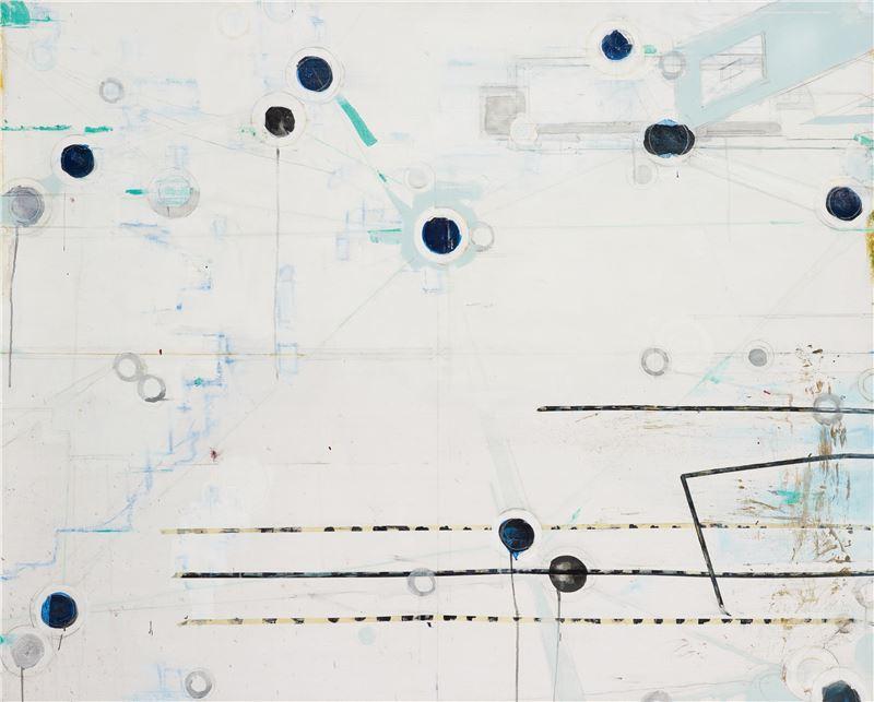 陳建榮〈Landscape 12〉2008 壓克力顏料、畫布、複合媒材 130×162 cm