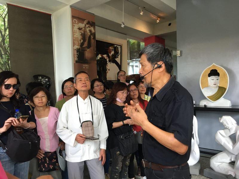 參訪陳培澤工作室陳老師導覽
