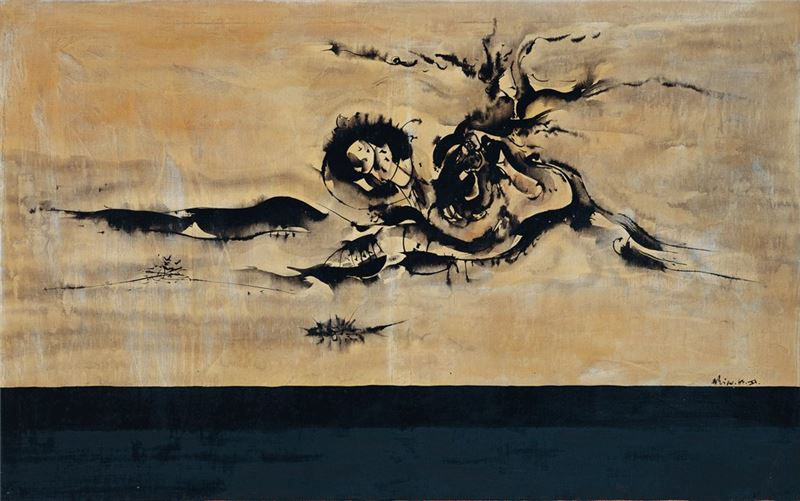 Hsiao Ming-hsien〈Image A〉1963 Mixed media 73.7×117 cm