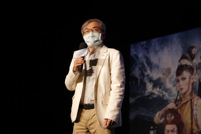 傳藝中心陳濟民主任在任期最後一天親臨記者會,闡述旗艦製作《海賊之王》劇團及傳藝中心所投注的心力,保證演出氣勢磅礡、精彩可期