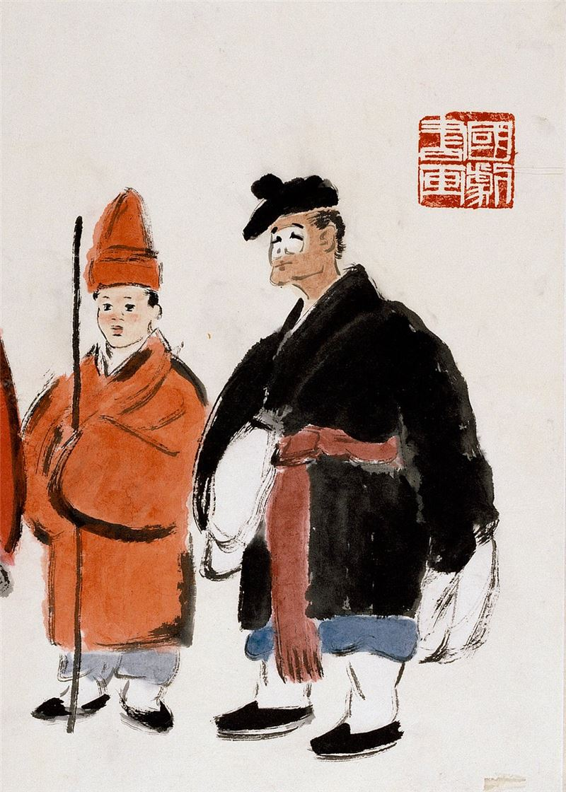 Cheng Shan-hsi〈Characters from Chinese Opera〉Detail