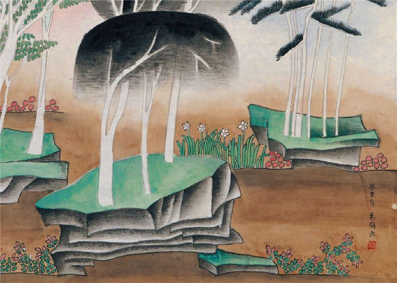 YUAN Zhan〈Spring is Long in the Wonder Land〉Detail