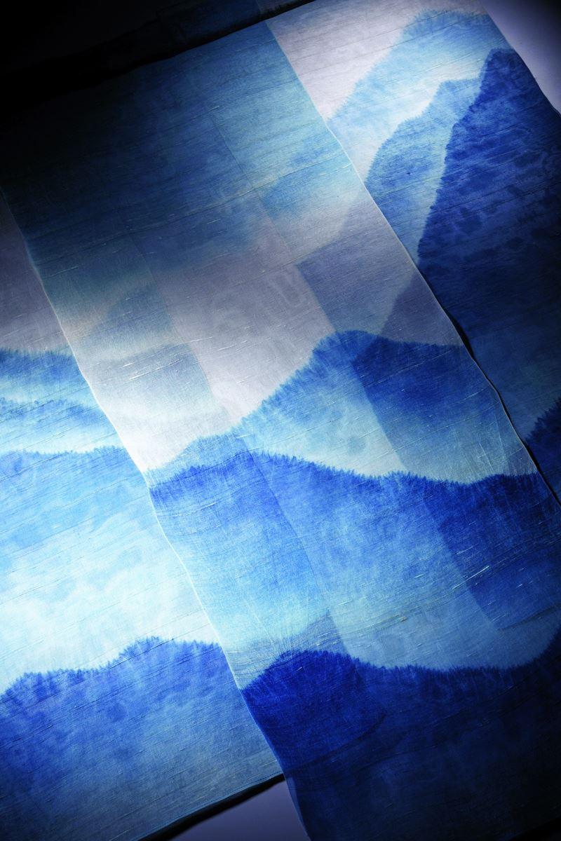 Yii-寧靜-藍染山水掛屏