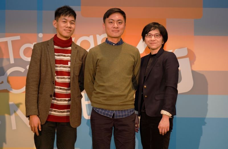 From left to right, Berlinale Talents participants: artistic director Hsieh Ming-jen, director Lien Chien-hung, and sound producer Hsu Wei-san.