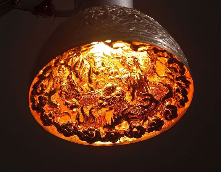 """""""Two Dragons Silver Lamp"""" by Su Chien-an."""