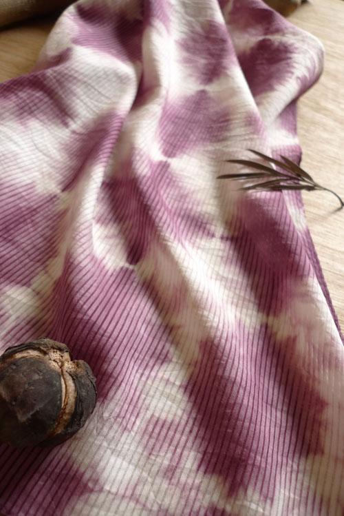 柚木方絲巾