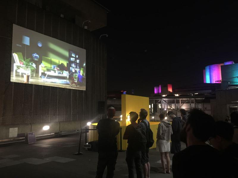 倫敦藝術之夜巨型投影袁廣鳴作品《棲居如詩》