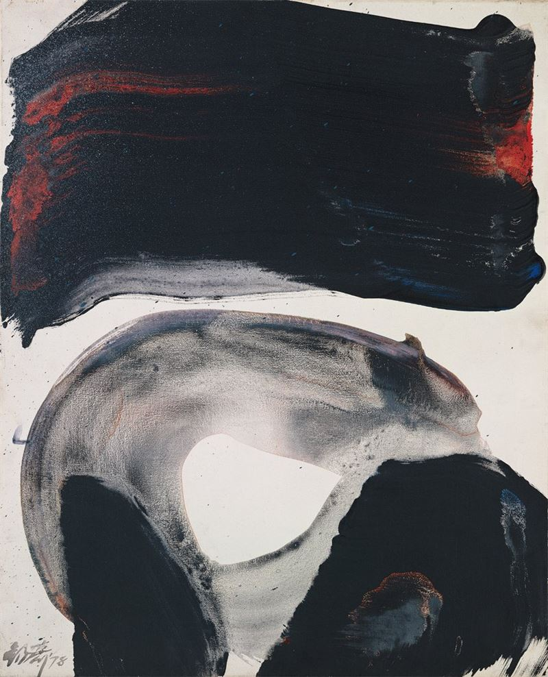 李錫奇〈作品12〉1978 油彩、畫布 65×52.3 cm