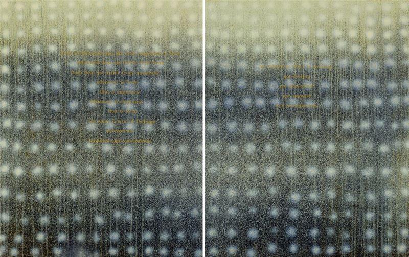江賢二〈對永恆的冥想 01-33 〉2001 油彩、畫布 190×150 cm×2 pieces