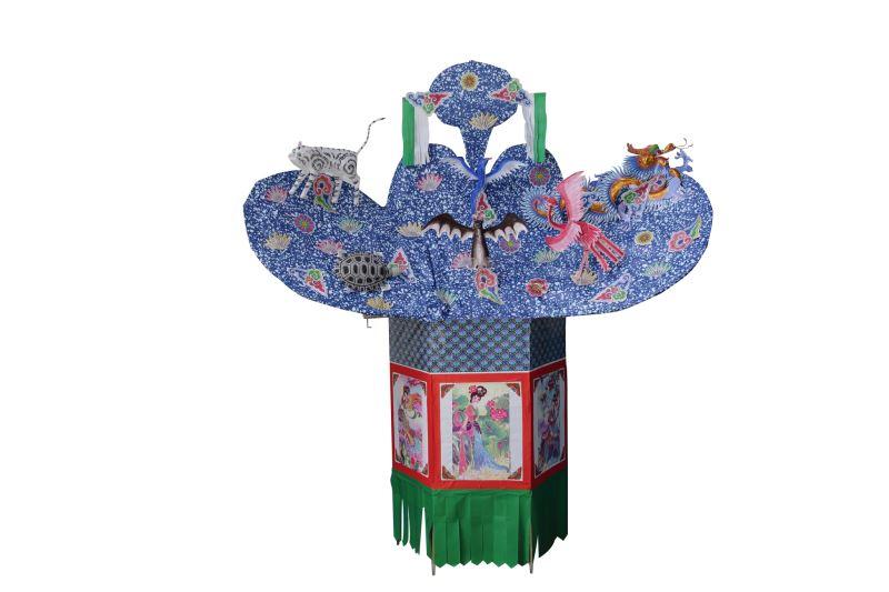 張秋山藝師製作的六獸山,純樸有古風。