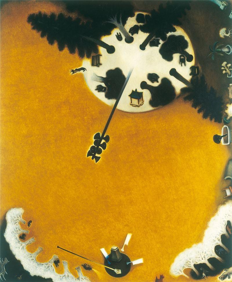 蘇旺伸〈自助新村〉2000 油彩、畫布 170×140 cm