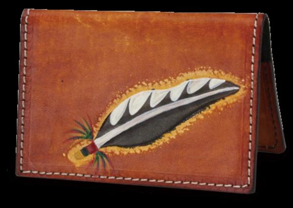 非常受到歡迎的皮雕的名片夾