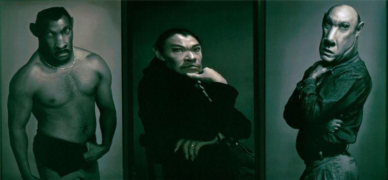 李小鏡 〈閻羅王與牛頭馬面〉1994 數位影像、數據式噴印 135×267 cm