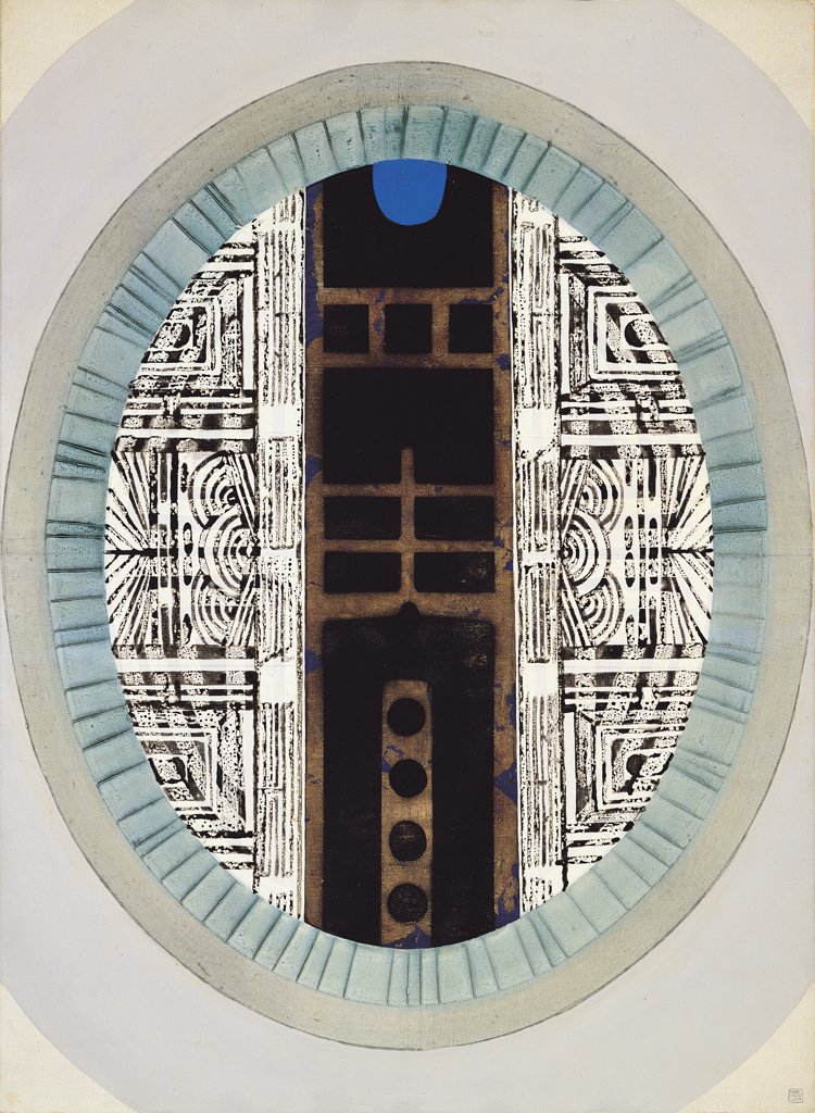Liao Shiou-ping〈Door of Mirror〉1967 Oil on canvas 100×73 cm