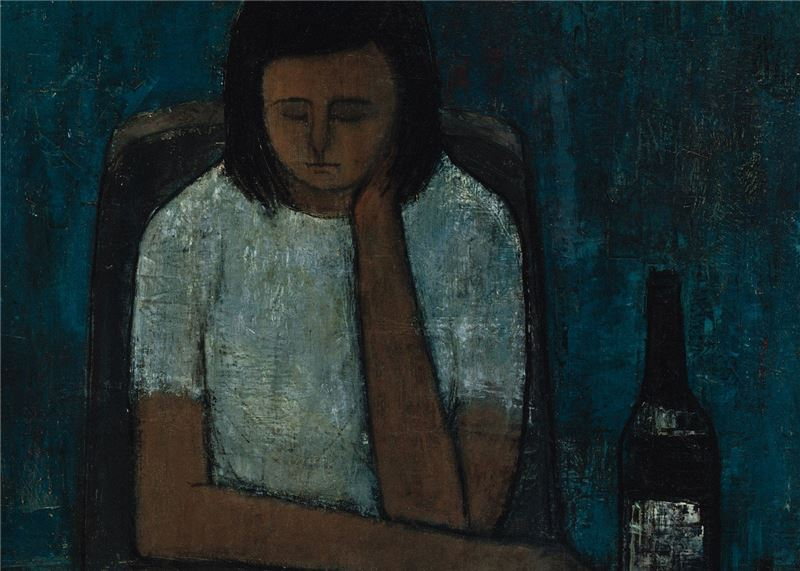 Pan Chau-sen〈Girl in Pondering〉Detail