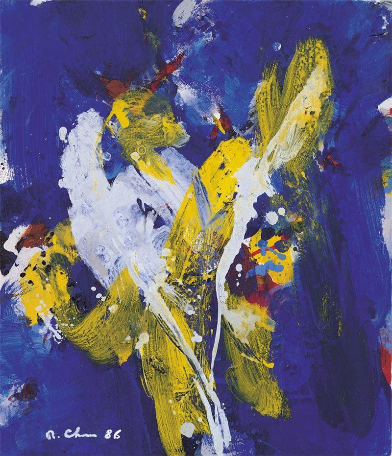 陳正雄〈無題〉1986 壓克力顏料、畫布 53×45 cm