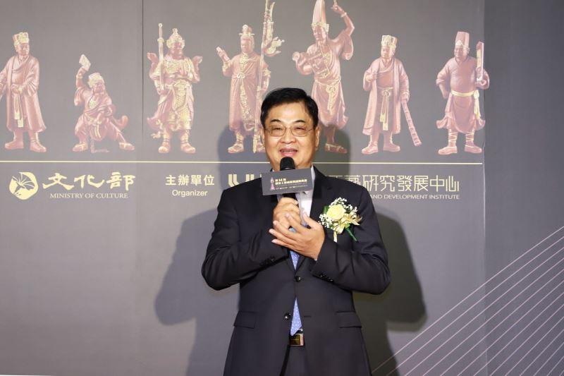 第14屆「國家工藝成就獎」得主木雕工藝師陳啟村先生致詞
