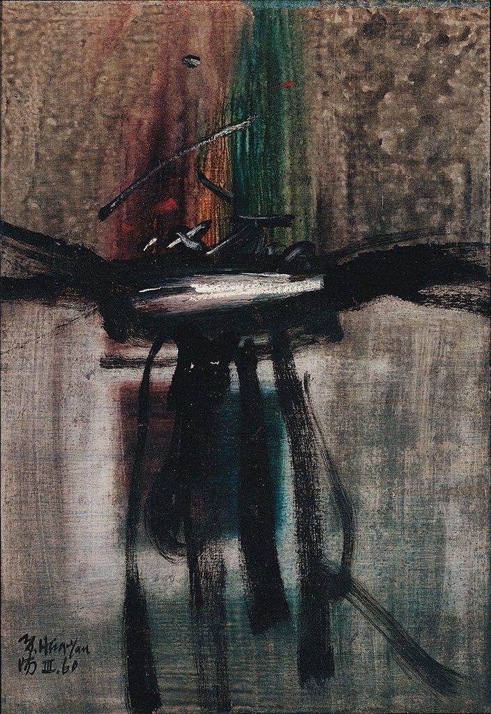 夏陽〈繪畫BC-3〉1960 油彩、畫布 74×52 cm