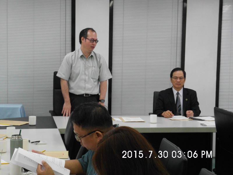 第11屆第5次董監事聯席會議─蒙藏委員會陳主任秘書致詞(後排左立)