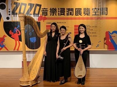 演奏家合影左起曾韋晴、施孟妏、劉亭妤.