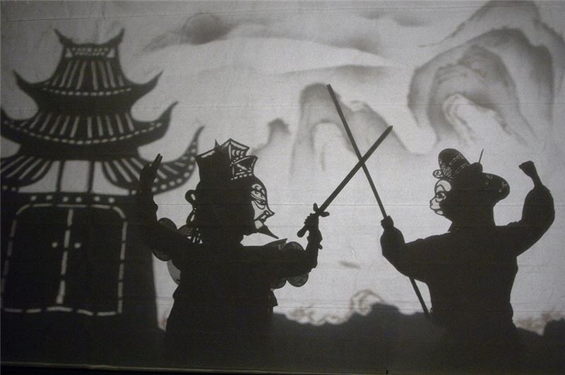 "A scene in "" Monkey King At Spider Cave "" (2006)."