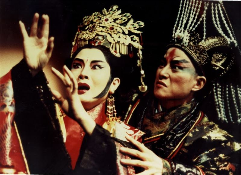 "A scene from "" The Kingdom of Desire""(1986). (Wu Xing-guo as Ao Shu-zheng, and Wei Hai-min as Ao's wife)"