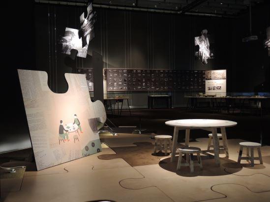 利用情境設計,模擬當時石暘睢等人聚會的「赤嵌夜談」氛圍。