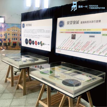 圖6.臺南一中《悅耳的失真》特展中的留聲發展史