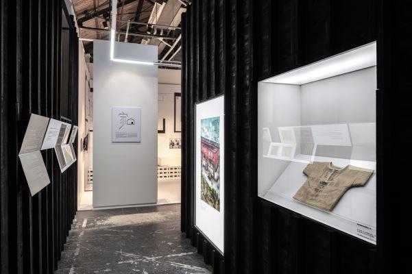 第四單元為美援時期國民住宅相關資料,現場展出本館典藏棉質麵粉袋上衣。