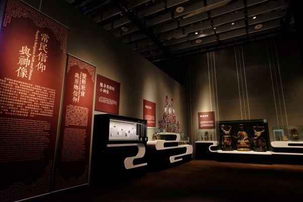 「常民信仰與神像」透過渡海、社會與行業發展、務實現代信仰等單元敘說臺灣各代常民信仰發展狀況